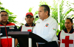 Colocan  primera piedra del Centro de Acopio y Ayuda Humanitaria de la Cruz Roja de Tampico