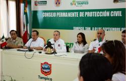 Sesionó  el Consejo Permanente de Protección Civil en Tampico