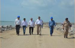 Supervisan empresarios avance en puerto Matamoros