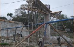 Avanza construcción de puente vehicular en Ocampo