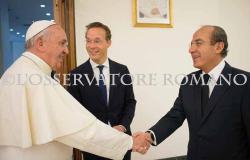 Recibe Francisco a Felipe Calderón