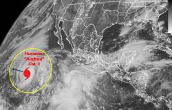 Huracán 'Andrés' se degrada a categoría 3