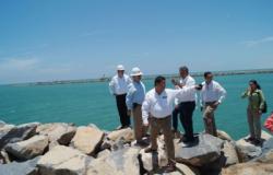 Constatan constructores avance del Puerto de Matamoros