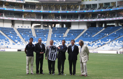 Inauguran autoridades estatales y federales el estadio de Futbol de los Rayados del Monterrey