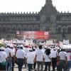 Piden mejores condiciones salariales con mitin en Zócalo