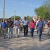Esta tarde Óscar Almaraz supervisó los trabajos de introducción del drenaje sanitario