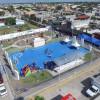 Entrega alcalde Enrique Rivas Plaza comunitaria en Colinas