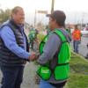 Oscar Almaraz Smer inició sus actividades este lunes supervisando las acciones de limpieza
