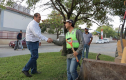 El Alcalde Oscar Almaraz Smer supervisa las acciones en materia de limpieza