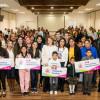 Mariana Gómez entrega apoyos auditivos a niñas, niños y adolescentes en condiciones de vulnerabilidad.