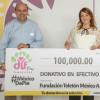 Entrega Mariana Gómez donativo de tamaulipecos a Teletón