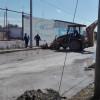 Coordinación de Servicios Públicos Primarios están apoyando con tareas de limpieza en la entrada de la colonia Unidad Obrera