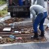Exhorto a no tirar basura ni levantar tapas de drenaje
