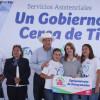 Acercan Gobierno y DIF Tamaulipas programas institucionales a familias de Miquihuana.