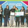 Mariana Gómez celebra y premia a los voluntarios de Tamaulipas.