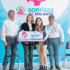 Mariana Gómez da inicio al programa sonrisas al volante en hospitales de Tamaulipas.