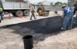 Rehabilita Municipio calles y avenidas con 1,607 toneladas de asfalto