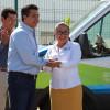 Fortalece Gobierno de Tamaulipas el sistema estatal de Salud con entrega de ambulancias y equipo.