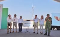 En Tamaulipas inicia funcionamiento otro parque eólico.