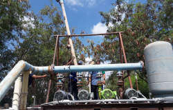 Mejora COMAPA rebombeo de agua en Ampliación San Valentín