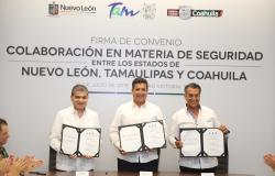 Firman Tamaulipas, Coahuila y NL acuerdo inédito en materia de Seguridad Pública.