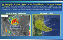 "Protección Civil atenta a ingreso de tormenta tropical ""Fernand""."