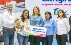 Entrega DIF Tamaulipas equipamiento a desayunadores escolares y espacios alimentarios del centro del estado.