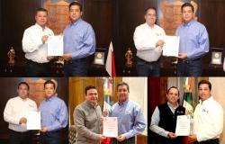 Gobernador entrega nombreamientos a cinco nuevos secretarios