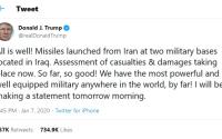 Trump tiende la mano a Irán y anuncia saldo blanco en ataques