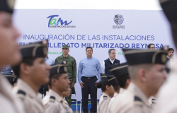 Inaugura Gobernador segunda etapa del Bachillerato Militarizado Reynosa.