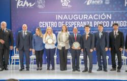 Mariana Gómez inaugura Centro de Esperanza POSCO Amigos, para las familias del sur de Tamaulipas.