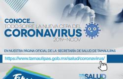 Tamaulipas continúa libre de COVID-19, afirma Secretaría de Salud.