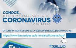 Pide Salud evitar pánico por coronavirus; no hay casos sospechosos ni confirmados en Tamaulipas.