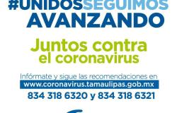 Tamaulipas registra 3 nuevos casos de COVID-19, suman 38 positivos.