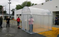 Instalan en Tamaulipas túnel sanitizante contra el COVID-19.