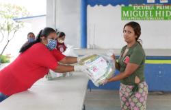 Entrega Gobierno del Estado y DIF Tamaulipas apoyos alimentarios a estudiantes de educación básica.