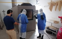 Capacitan a personal del velatorio y crematorio del DIF Tamaulipas en el uso correcto de protección personal, manejo y transportación de cadáveres COVID-19 .