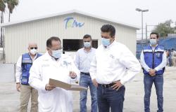 Supervisa Gobernador avances del C5 y Hospitales Móviles COVID-19 en Reynosa.