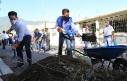 Jornada de limpieza del gobierno estatal y municipal en Ciudad Victoria.