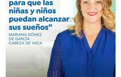 Invita Mariana Gómez a seguir mensaje virtual por 4 años de trabajo.