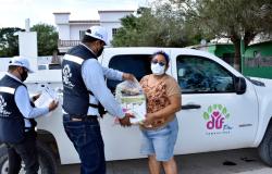 Programa DIF Tamaulipas entrega cerca de 200 mil apoyos alimentarios a familia del estado.