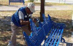 Rehabilita Municipio áreas verdes y equipamiento urbano