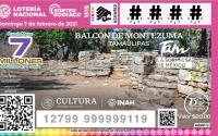 Zona arqueológica de Tamaulipas, imagen del próximo sorteo de la Lotería Nacional.