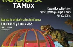 """Los dinosaurios invaden el TAMux con el """"Safari Jurásico""""."""