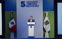Rinde Francisco Cabeza de Vaca su 5° Informe de Gobierno.