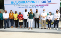 Inauguraron vecinos y Maki Ortiz calle 1ª  Petrolera en Ampliación Pedro J. Méndez