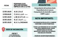 Invita Alcaldesa a segunda dosis anti COVID-19 a 50-59 y embarazadas