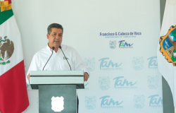 Gobernador Francisco Cabeza de Vaca da banderazo de inicio de construcción de la carretera TAM- Bajío.