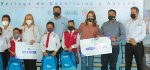Impulsa Gobierno del Estado y DIF Tamaulipas apoyos a sectores vulnerables e infraestructura educativa.